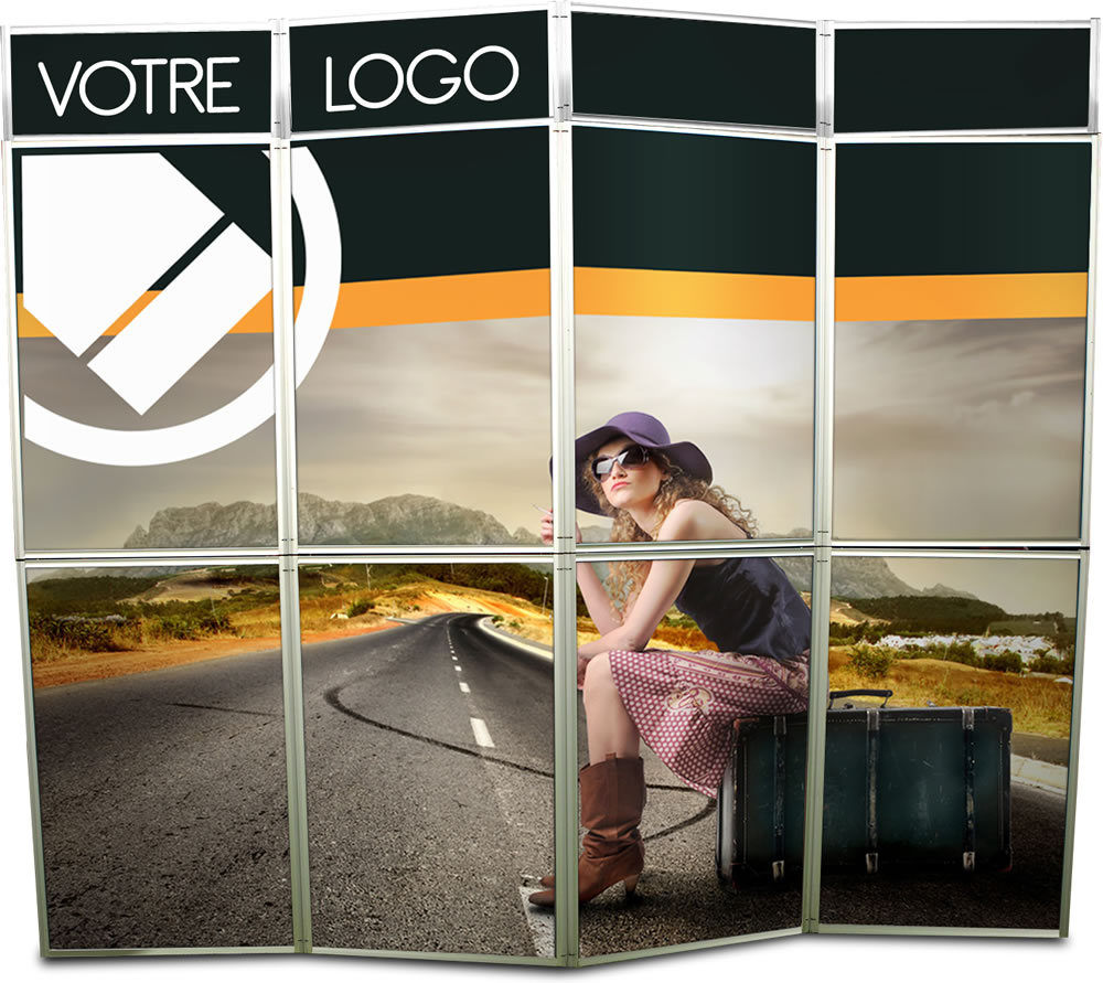 Occasion stand cadre tissu r tro clair pour visuels textiles for Stand parapluie occasion