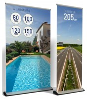 Roll-up premium, enrouleur impression quadri