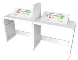 Kiosk double écran 27 pouces