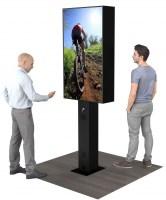 Ecran vitrine avec 2 écrans