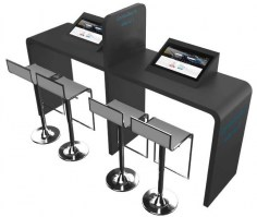 Kiosk 2 ecrans multimedia 27 pouces Idaho