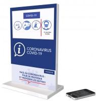 Petit totem vidéo information coronavirus