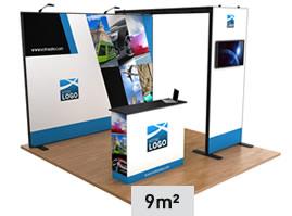 Stand tissu 9m² pour salon événement